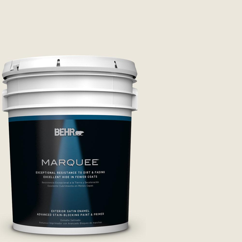 BEHR MARQUEE 5-gal. #BXC-32 Picket Fence White Satin Enamel Exterior Paint
