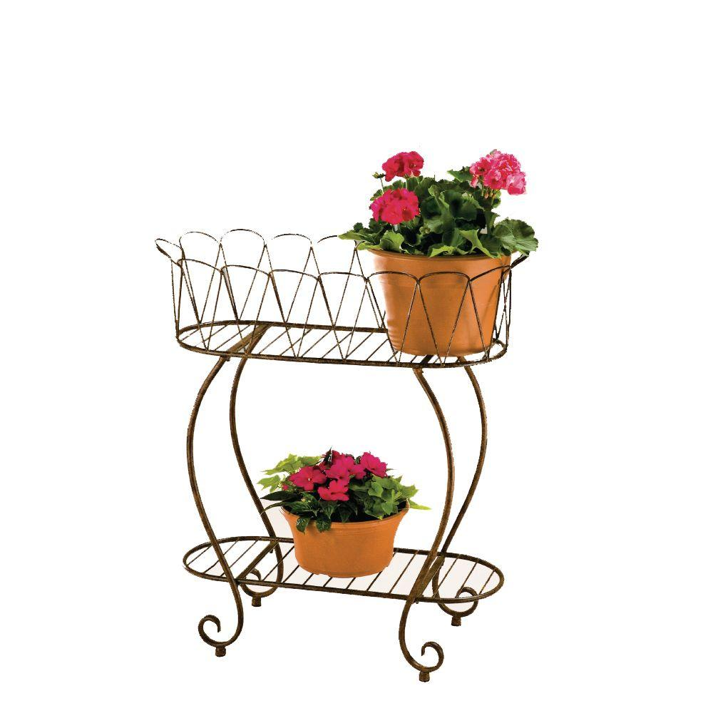 Metal Oval Wave Planter