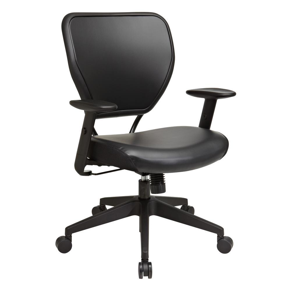 Black Vinyl Office Chair