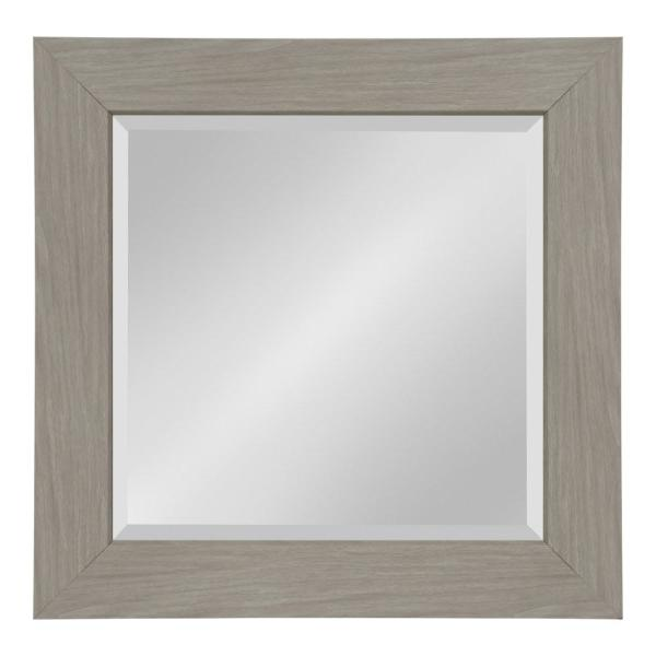 Kate and Laurel Boardwalk Rectangle Gray Wall Mirror 214025