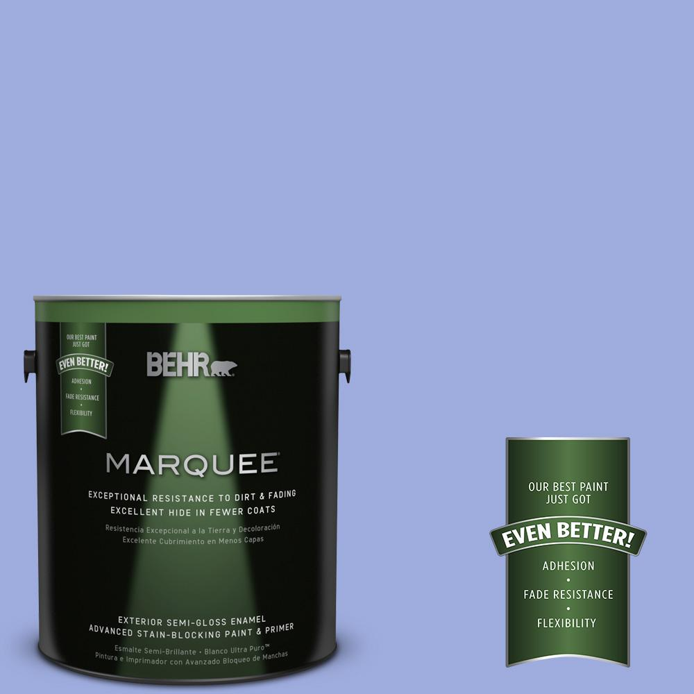 BEHR MARQUEE 1-gal. #P540-4 Lavender Sky Semi-Gloss Enamel Exterior Paint