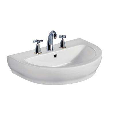 Harmony 800 31-1/2 in. Wall Hung Sink in White