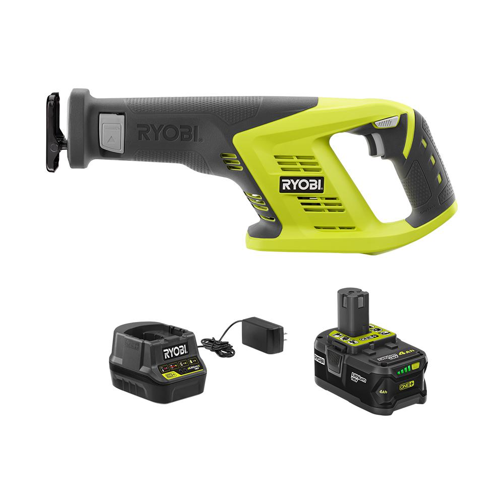 RYOBI 18-Volt ONE+ Cordless Reciprocating Saw Kit with (1) 4.0 Ah Lithium-Ion Battery and 18-Volt Charger was $217.0 now $99.0 (54.0% off)