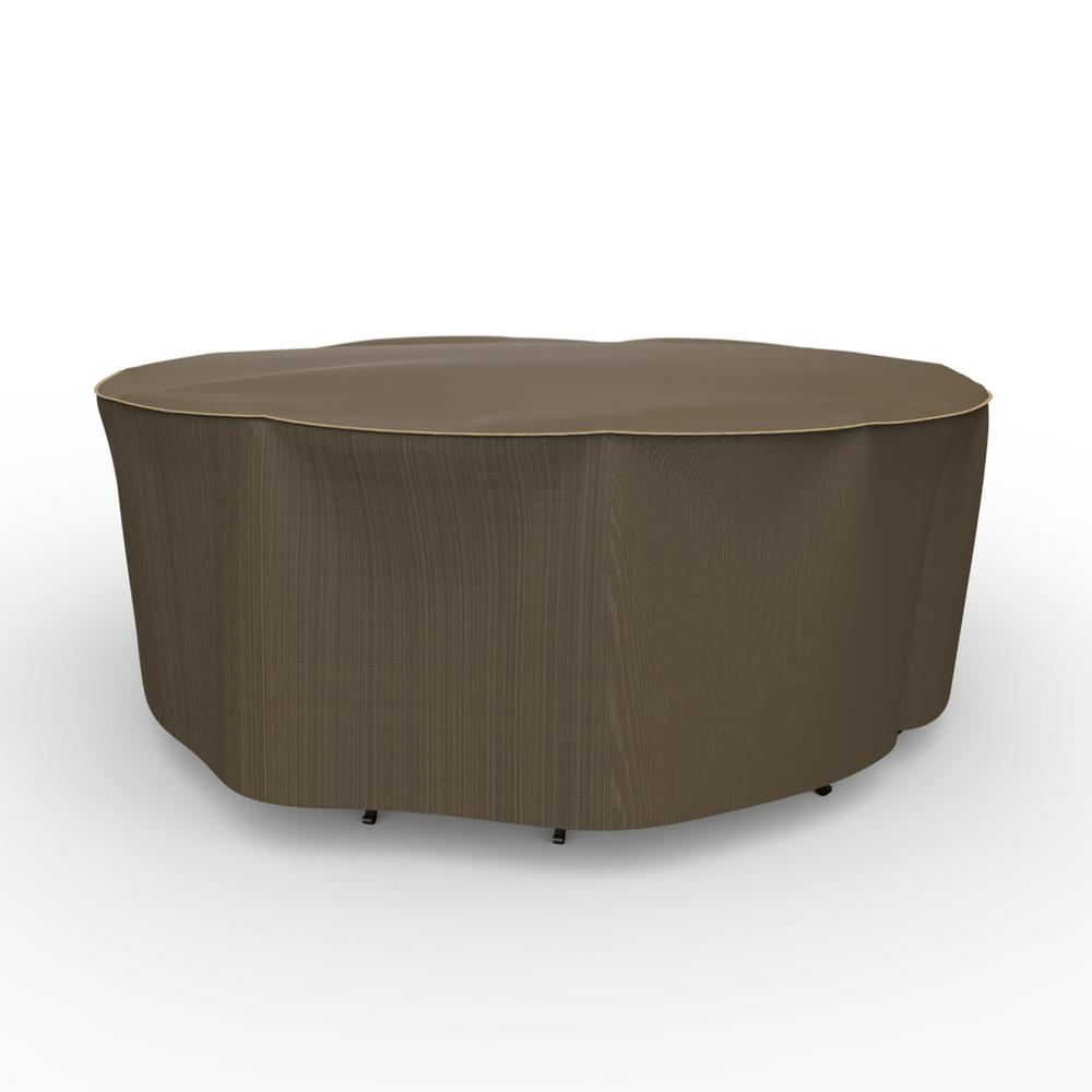 Budge NeverWet Hillside Small Black and Tan Round Table and Chairs Combo Cover