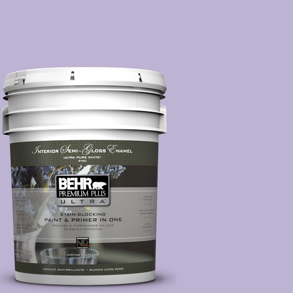 BEHR Premium Plus Ultra 5-gal. #M560-3 Grape Hyacinth Semi-Gloss Enamel Interior Paint