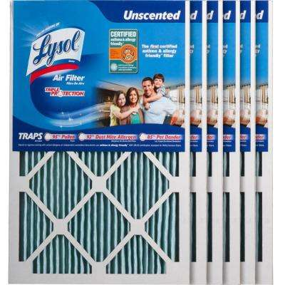 15 in. x 20 in. x 1 in. Certified Asthma and Allergy Triple Protection Air Filter (6-Pack)