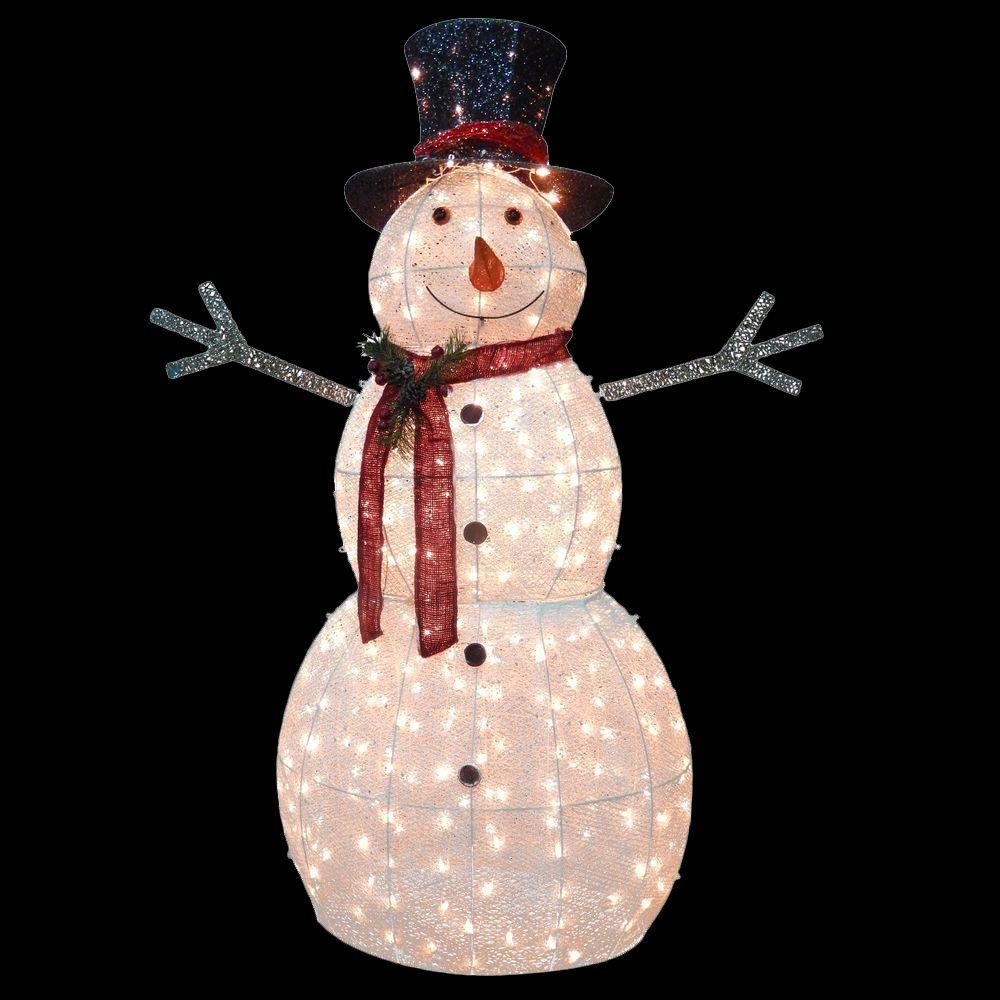 National Tree Company 60 In Snowman Decoration With Clear