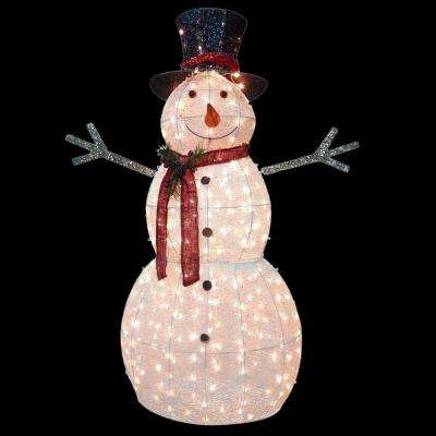 60 in. Snowman Decoration with Clear Lights