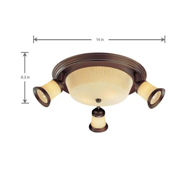 Hampton Bay 4 Light Antique Bronze Semi