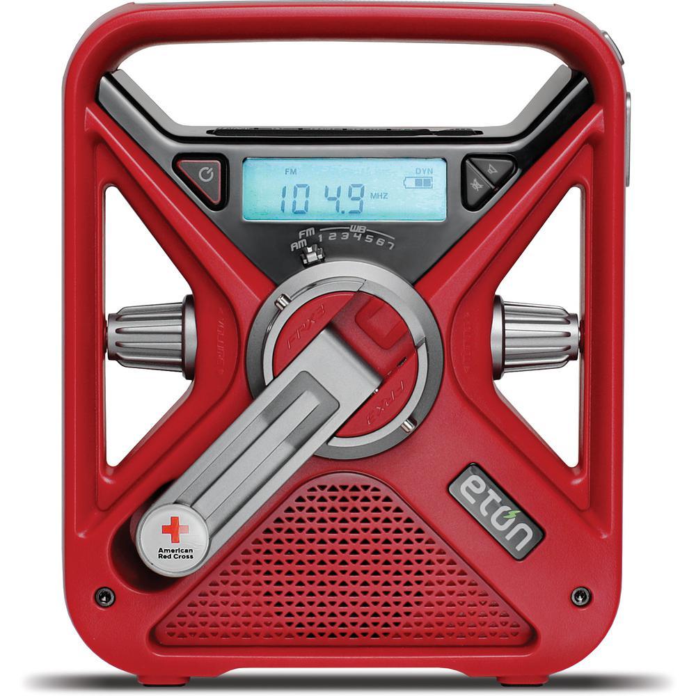 American Red Cross AM/FM NOAA Weather Radio with Hand Turbine, Solar and USB Smartphone Charging plus LED Flashlight
