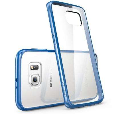 Halo Scratch Resistant Case for Samsung Galaxy S6 Edge, Clear/Navy