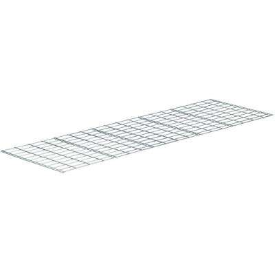 0.5 in. H x 24 in. W x 15 in. D 1-Shelves Wire Deck Free Standing Shelves in Silver