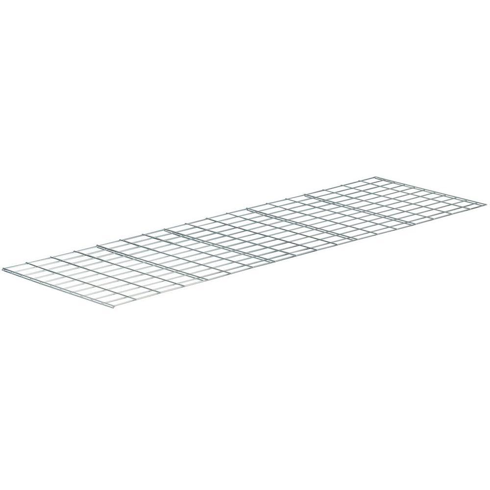 1 in. H x 24 in. W x 15 in. D Wire Deck Shelving in Silver