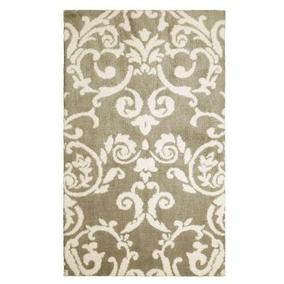 Halstead Plush Knit Taupe 2 ft. x 4 ft. Area Rug