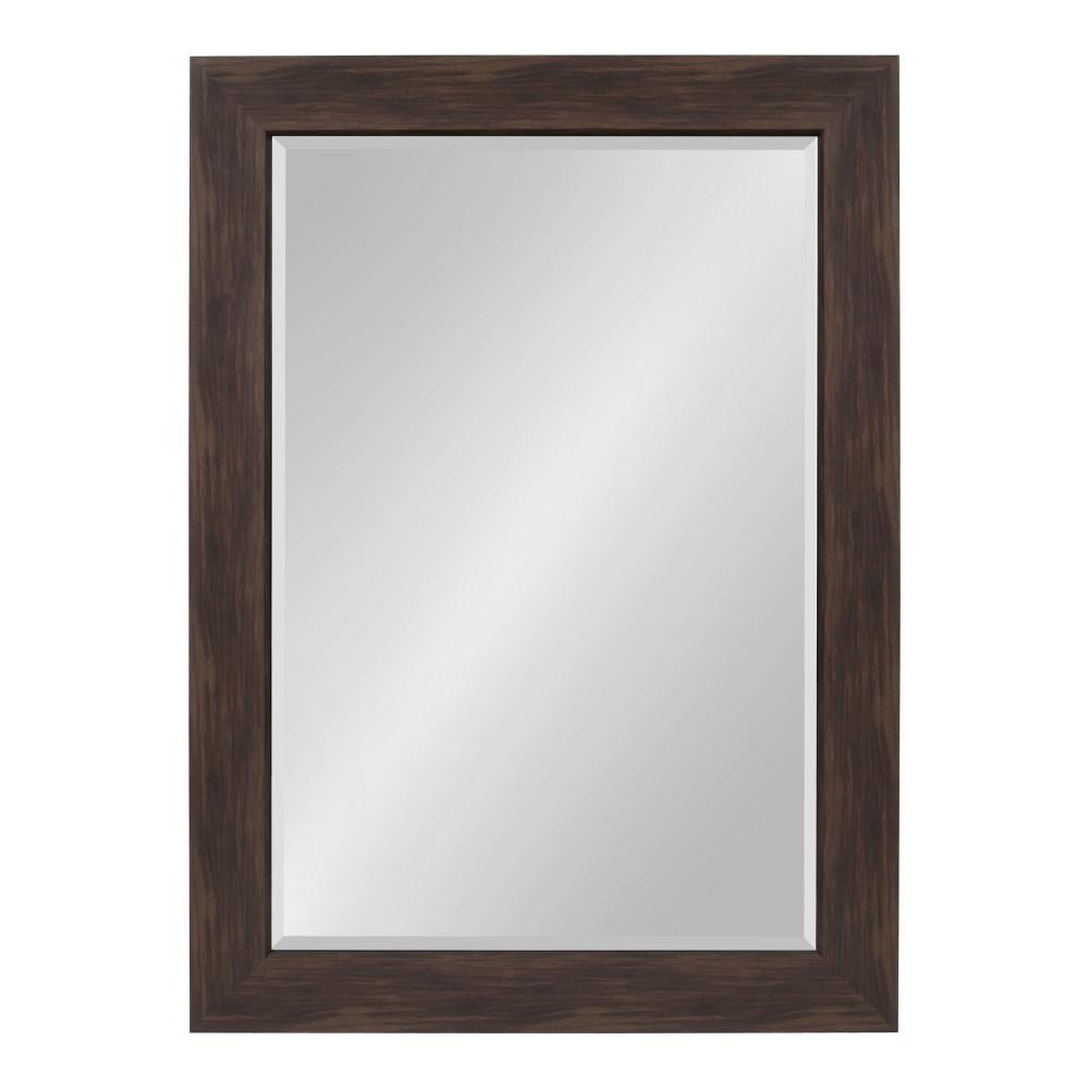 Kate and Laurel Boardwalk Rectangle Walnut Brown Wall Mirror 213907