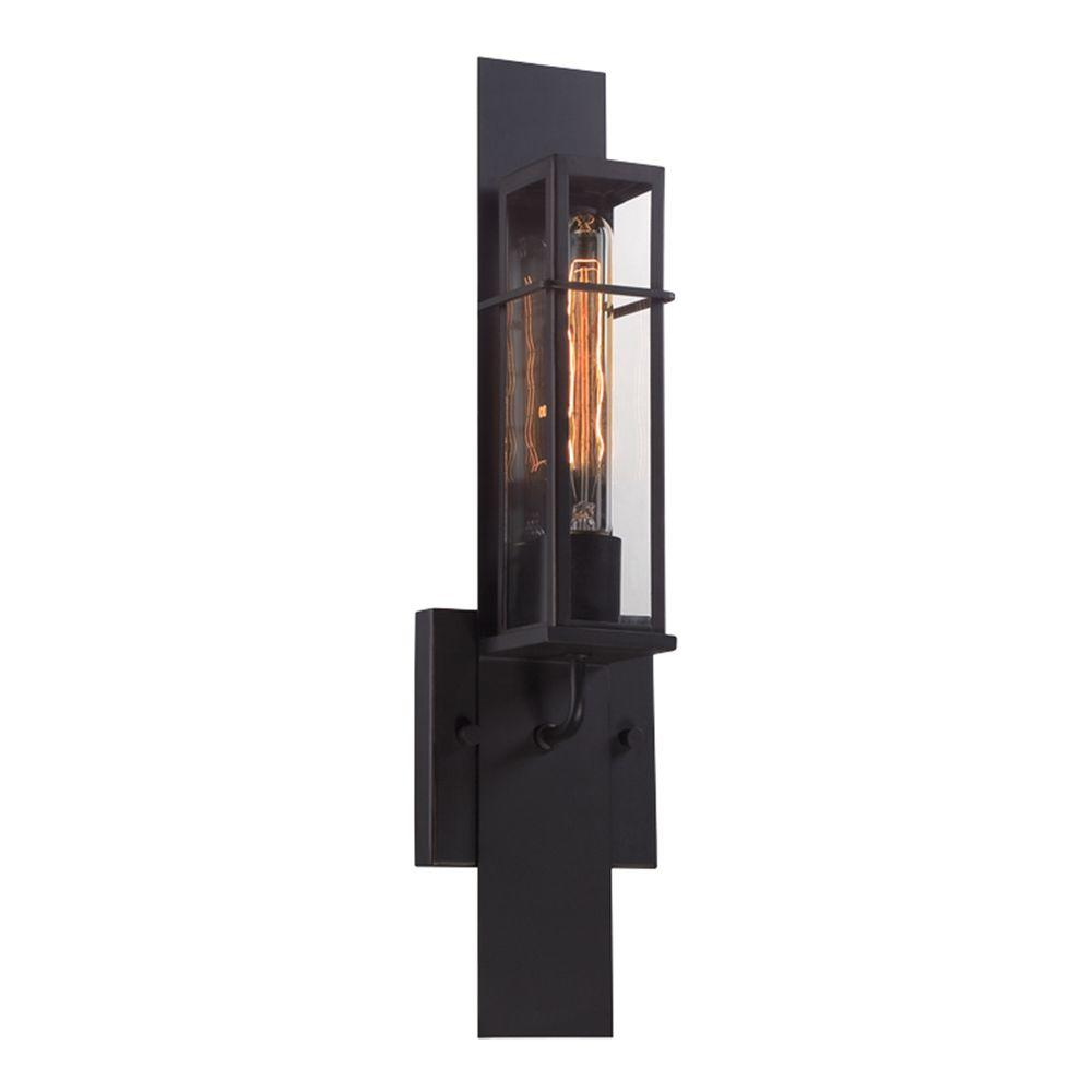 Eurofase muller collection 1 light bronze outdoor wall sconce