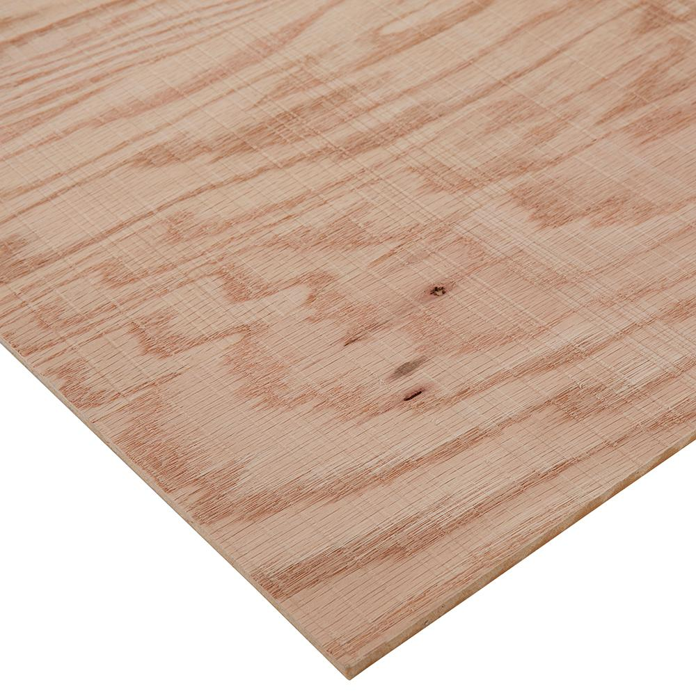 Columbia Forest Products 1/4 in. x 4 ft. x 4 ft. Rough Sawn Red Oak Plywood Project Panel