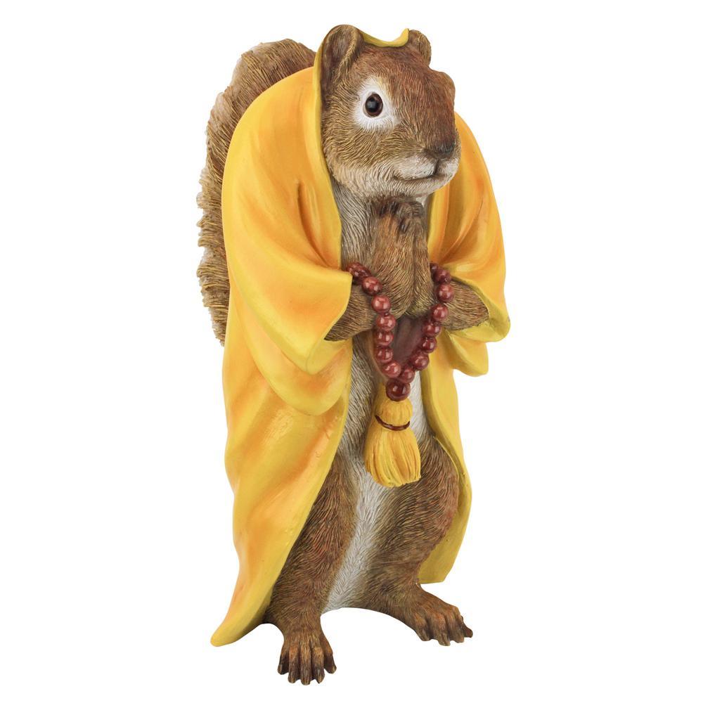 10.5 in. H Sensei Monk Zen Garden Squirrel Animal Statue