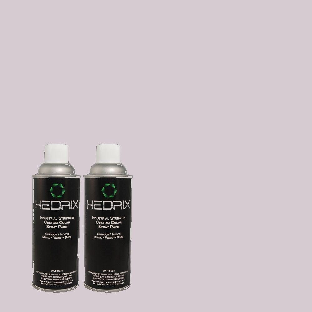Hedrix 11 oz. Match of RAH-53 Violet Haze Flat Custom Spray Paint (2-Pack)