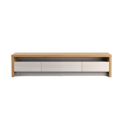 Sylvan 70.86 in. Nature Wood and Off White TV Stand