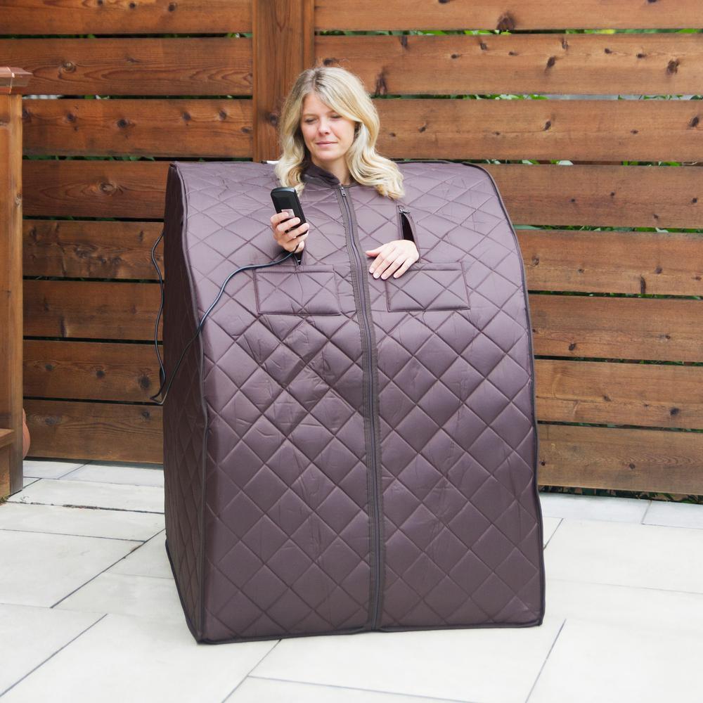 Radiant Saunas Harmony Deluxe Oversized Portable Sauna-BSA6315 - The Home  Depot