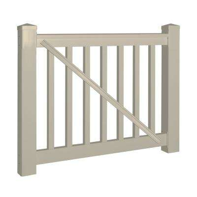 Vanderbilt 3.5 ft. H x 5 ft. W Khaki Vinyl Railing Gate Kit