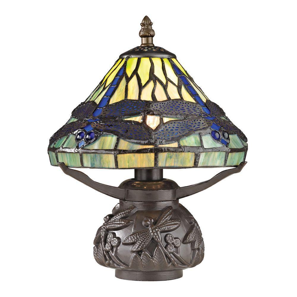 Flintwick Mini Dragonfly 11 in. Dark Bronze Table Lamp