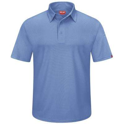 Men's Size L Medium Blue Professional Polo