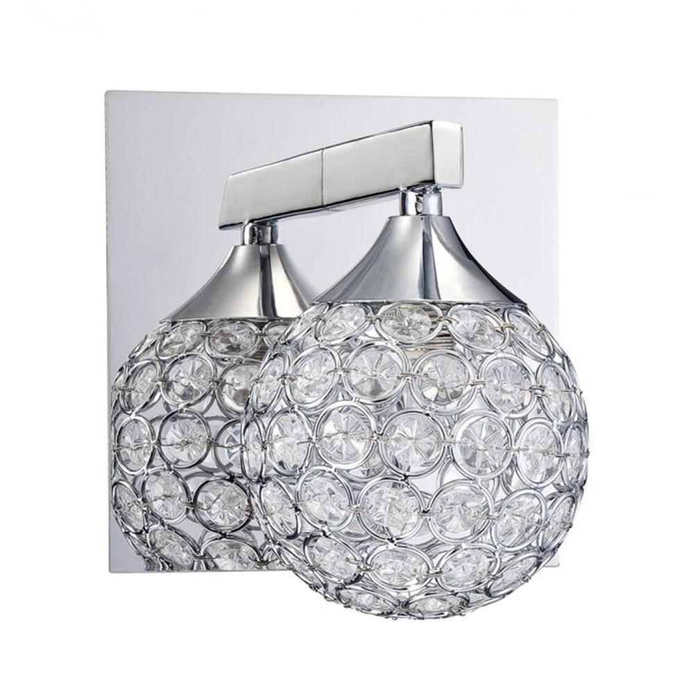 Hypatia Chrome Bath Vanity Light