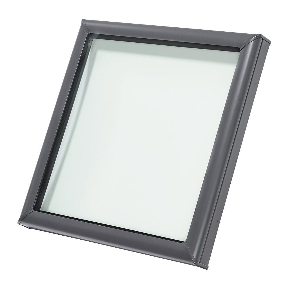 velux 30 1 2 in x 30 1 2 in fixed curb mount skylight. Black Bedroom Furniture Sets. Home Design Ideas