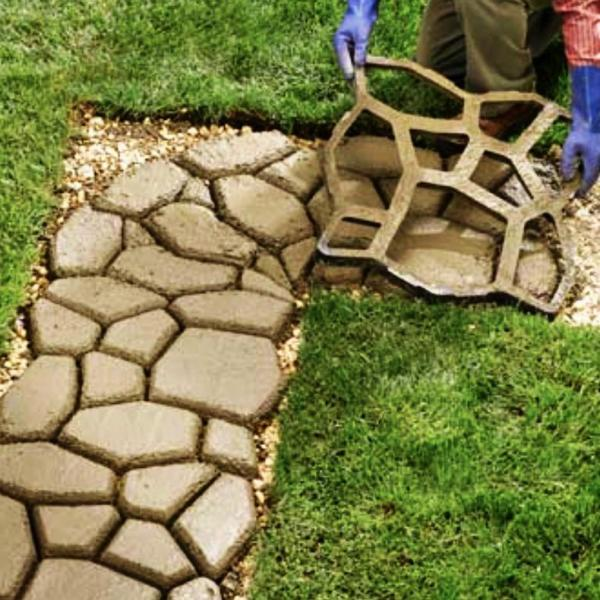 "Plastic Ohio state mold plaster concrete casting garden mould 9.5/"" x 9.5/"" x .75/"""