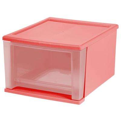 Quart Pink Stacking Drawer (4 Pack)