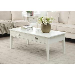 2 Drawer Coffee Table In White. Home Decorators ...