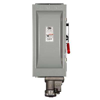Heavy Duty 100 Amp 600-Volt 3-Pole Type 12 Fusible Safety Switch with Receptacle