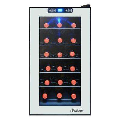 18-Bottle Mirrored Thermoelectric Wine Cooler