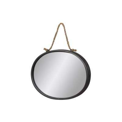 Oval Gray Tarnished Mirror
