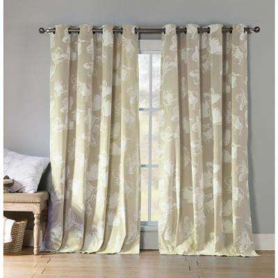 Aster 84 in. L Polycotton Grommet Panel in Linen (2-Pack)