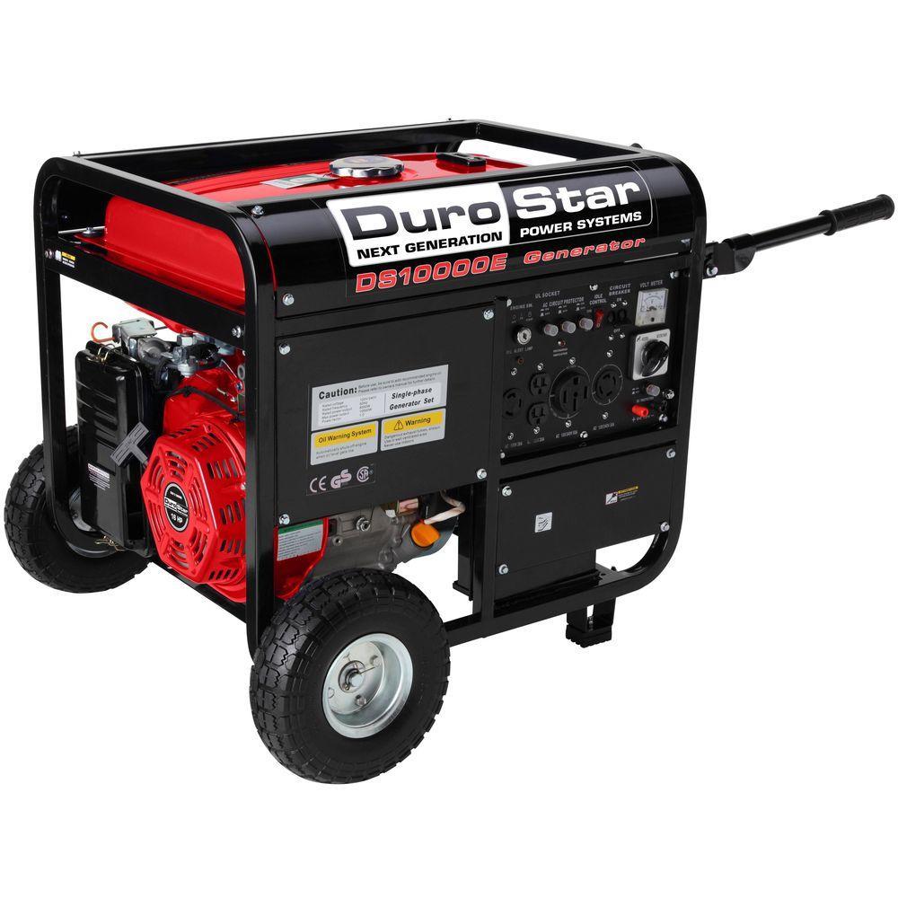 Durostar 10,000-Watt Gasoline Powered Electric Start Portable Generator with Wheel Kit by Durostar