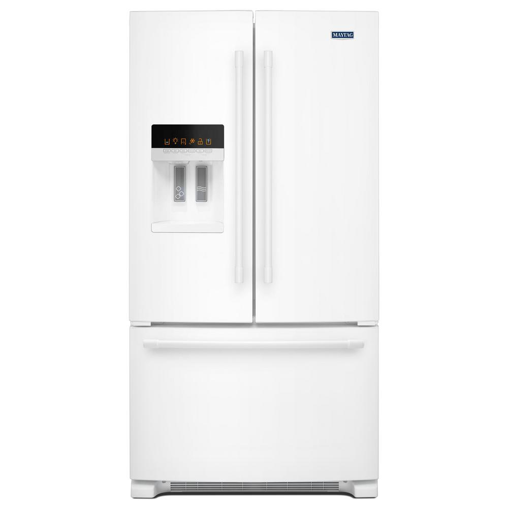 36 in. W 25 cu. ft. French Door Refrigerator in White