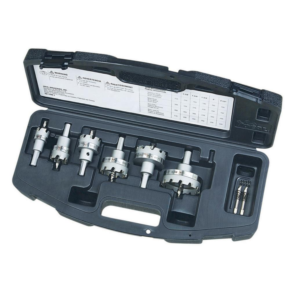Ideal Ideal TKO Master Electrician's 7/8 in. to 2-1/2 in. Carbide-Tipped Hole Cutter Kit (8-Piece)
