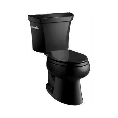 Wellworth Classic 2-piece 1.0 GPF Single Flush Elongated Toilet in Black Black