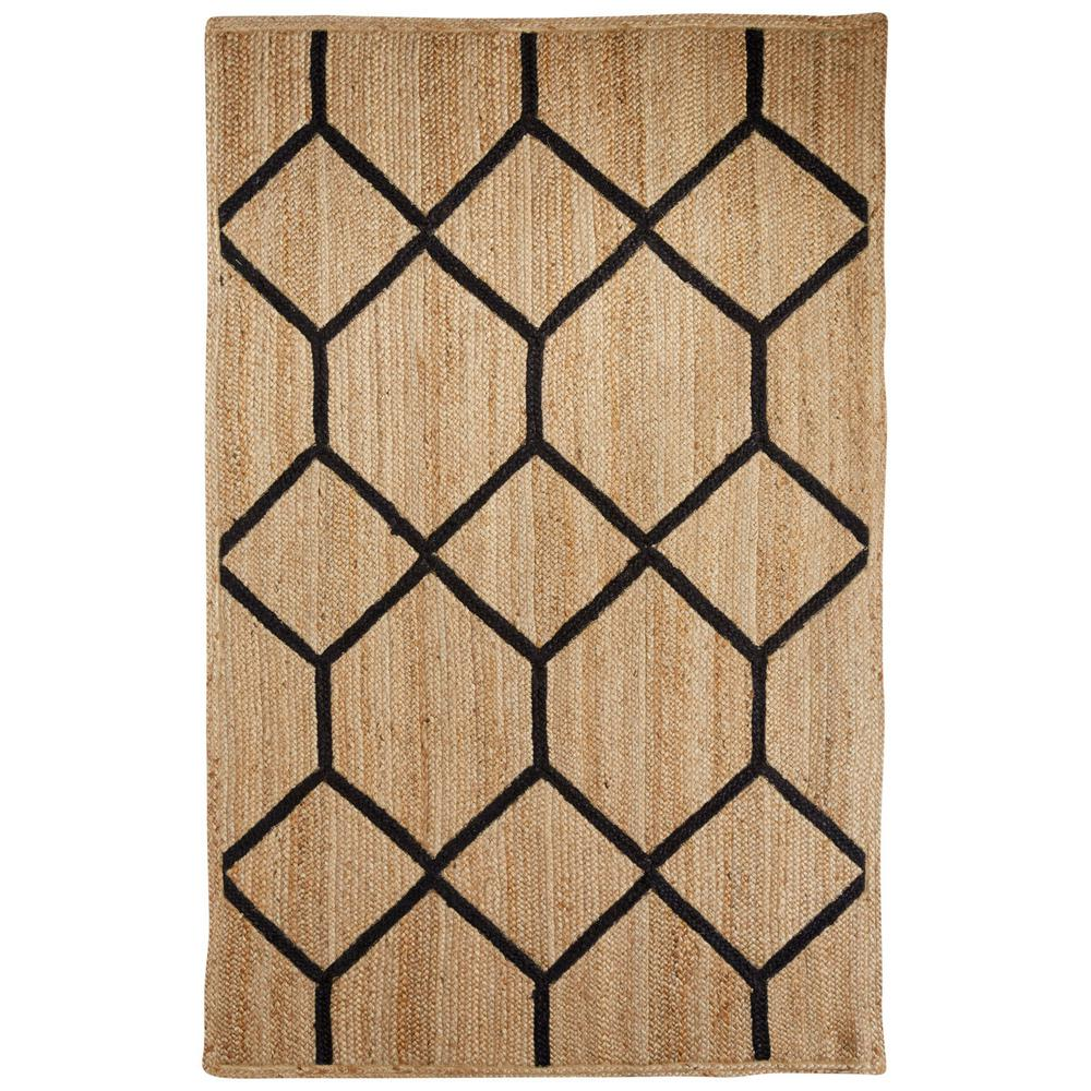 Natural Almond Buff 5 ft. x 8 ft. Tribal Area Rug, Almond...