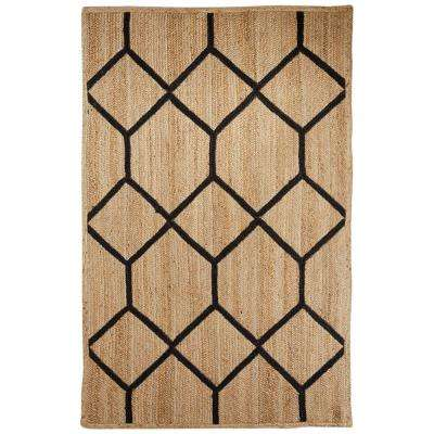 Natural Almond Buff 9 ft. x 12 ft. Tribal Area Rug