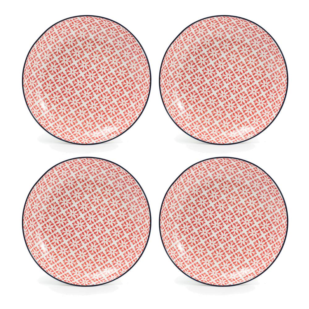 Cady Red Salad Plates (Set of 4)