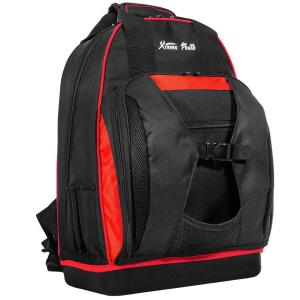 20 in. 38-Pockets Heavy-Duty Padded Wide Mouth Jobsite Backpack Tool Bag