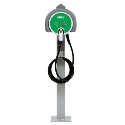 Single Pedestal 32 Amp Level 2 EV Charging Station with 25 ft. Cable