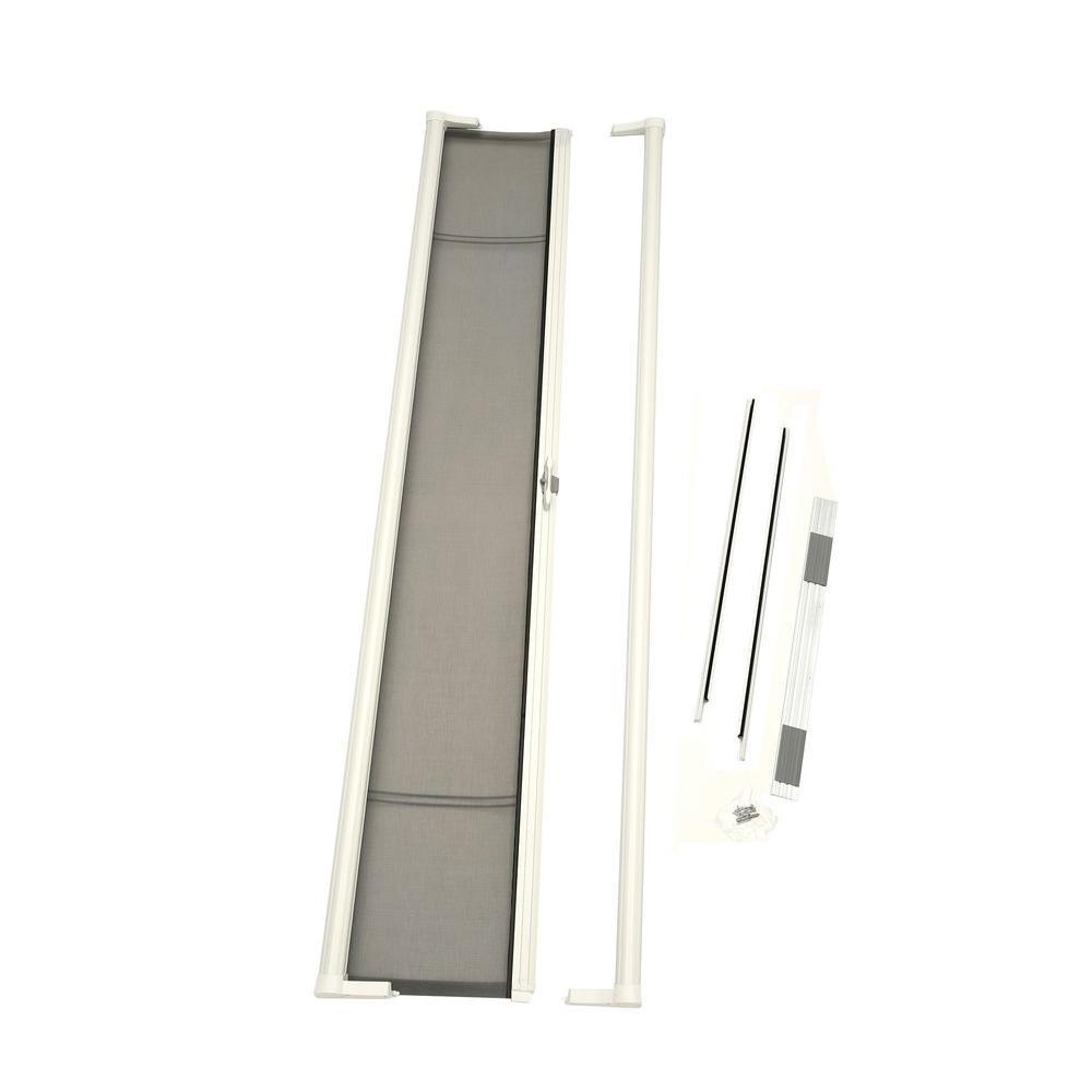 36 in. x 78 in. Brisa White Short Height Retractable Screen Door