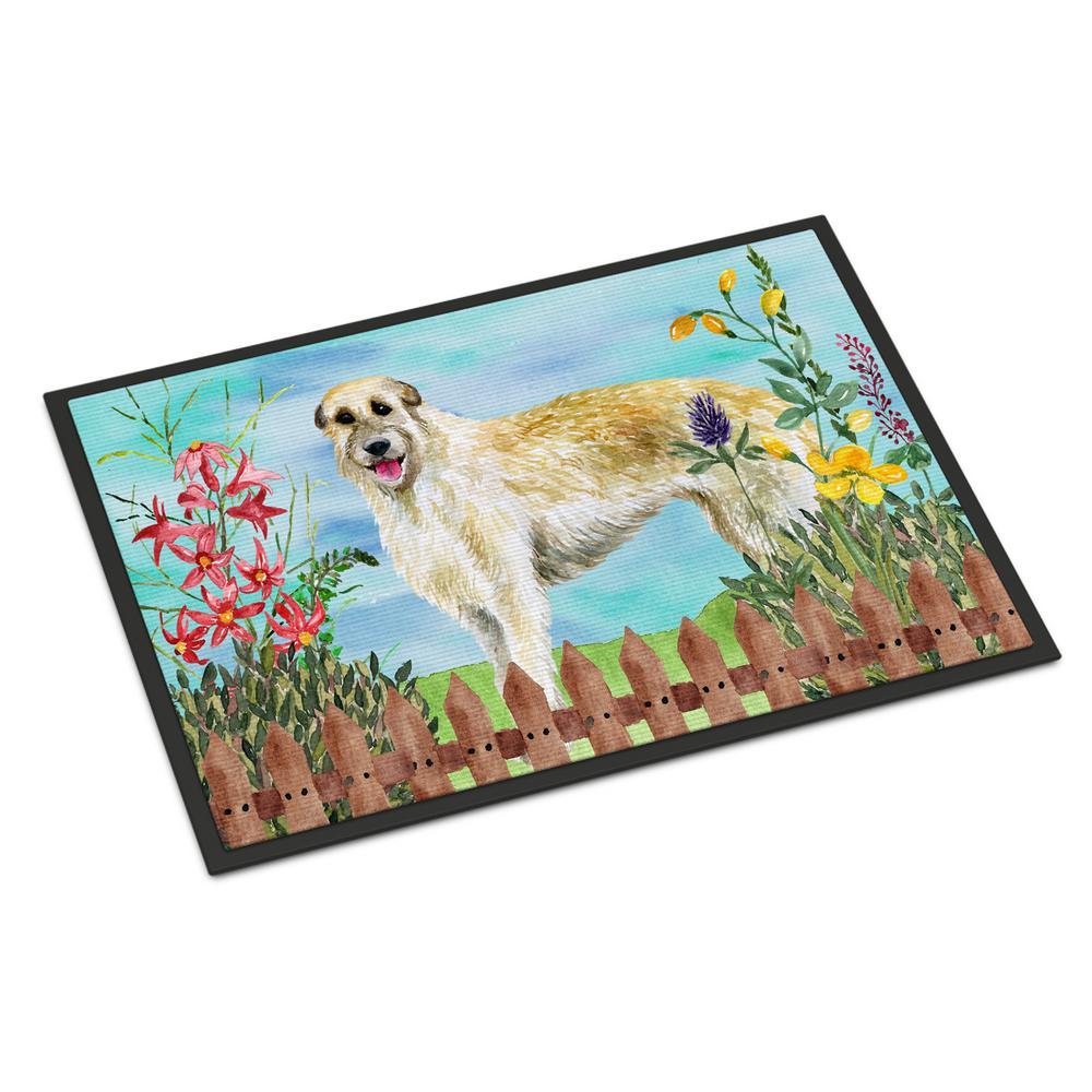 18 in. x 27 in. Indoor/Outdoor Irish Wolfhound Spring Door Mat