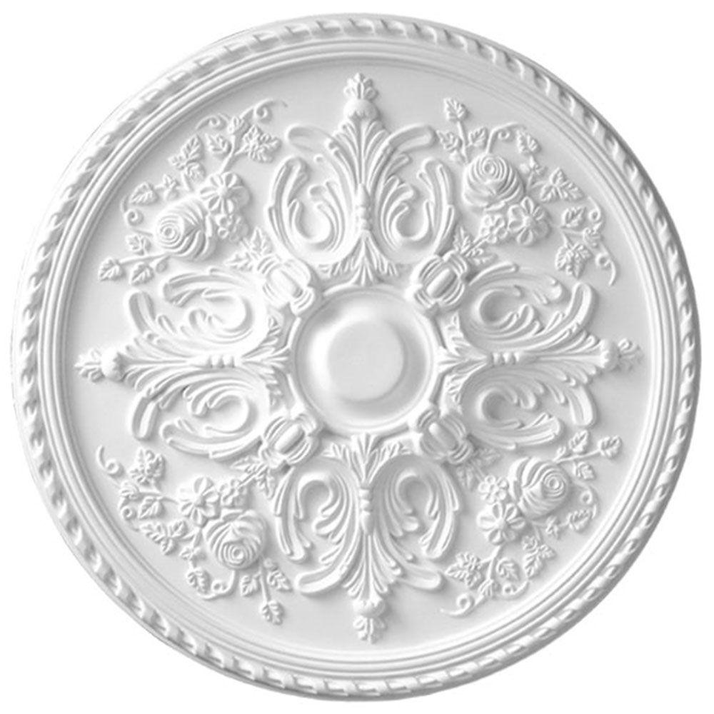 American Pro Decor 32-5/8 in. x 2 in. Floral Polyurethane Ceiling Medallion