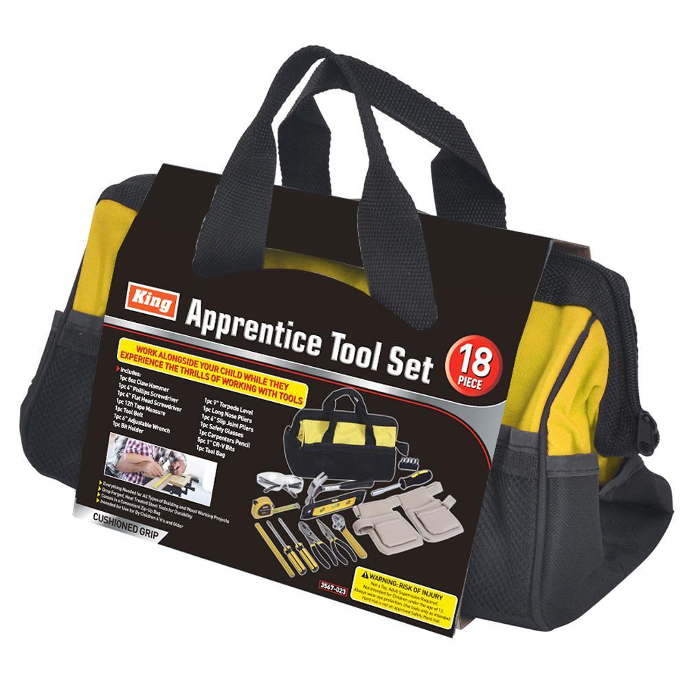 Apprentice Tool Set with Tool Bag (18-Piece )